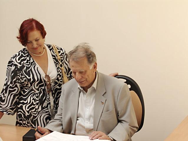 Жорес Иванович с супругой Тамарой