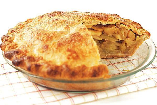 пирог с ябллоками и бананами на кефире