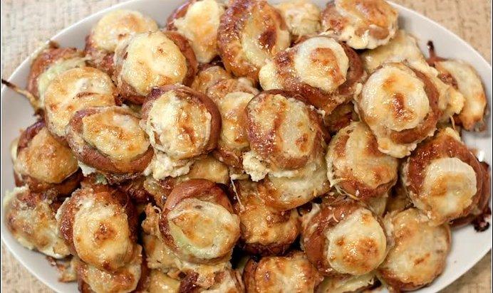 Баранки с фаршем и картофелем