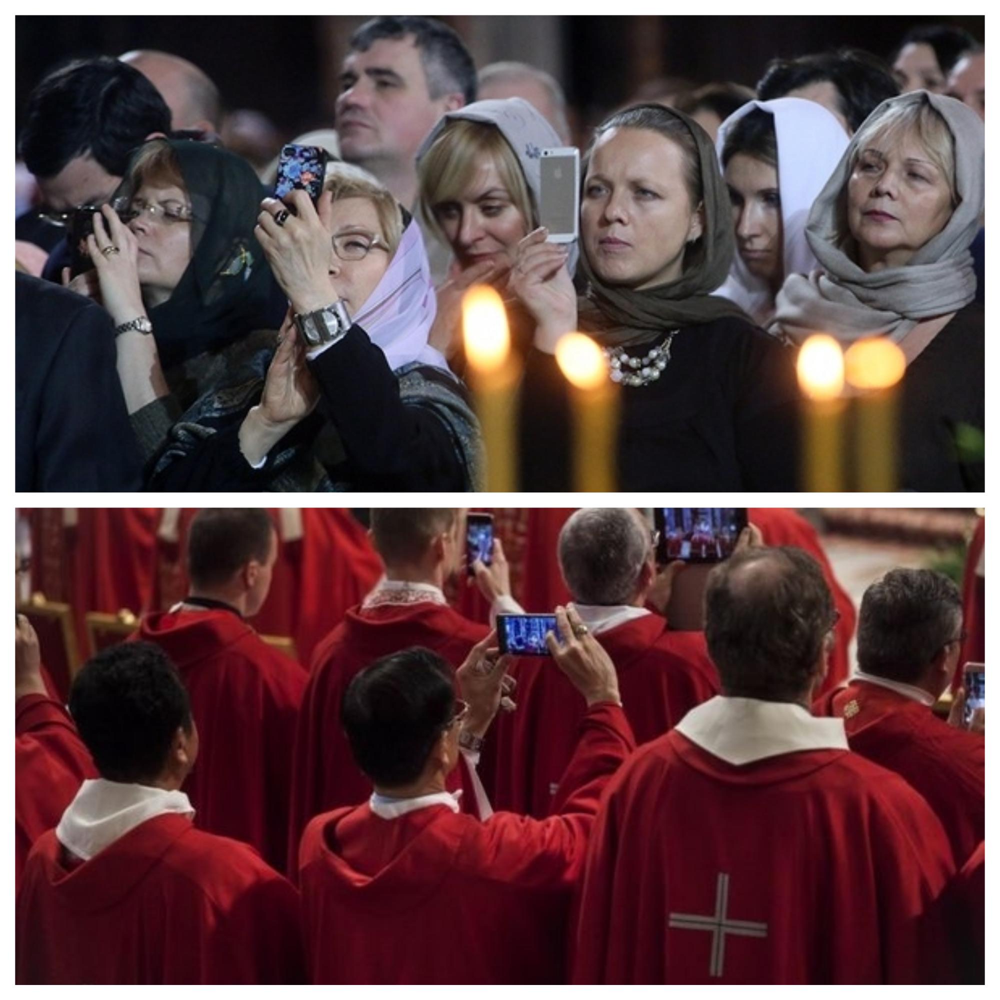 в православном и католическим храмах