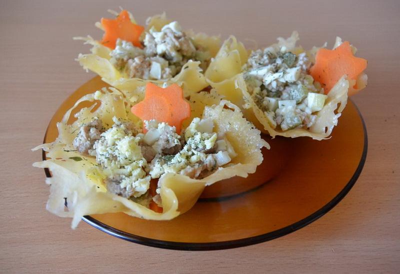 салат из сырных корзиночек рецепт фото