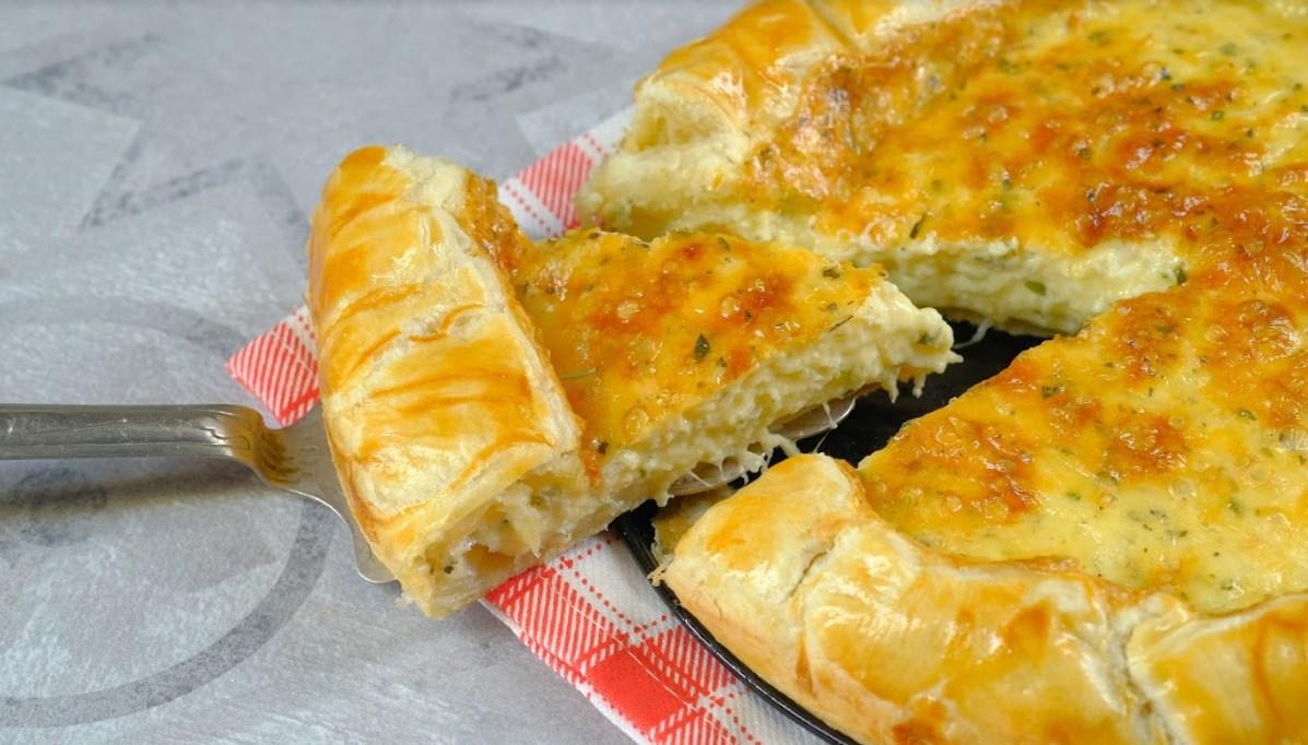 чтобы слоеный сырный пирог рецепт с фото даже