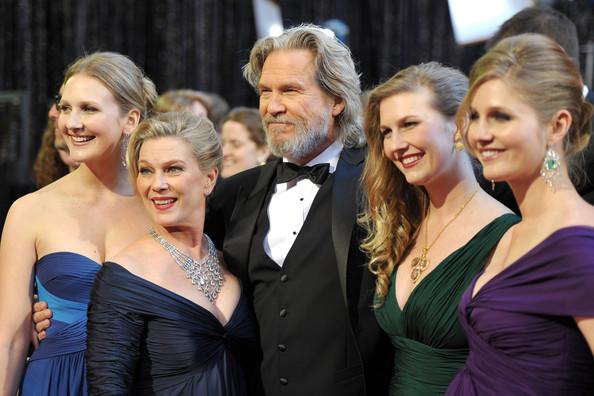 Джефф Бриджес с женой и дочками