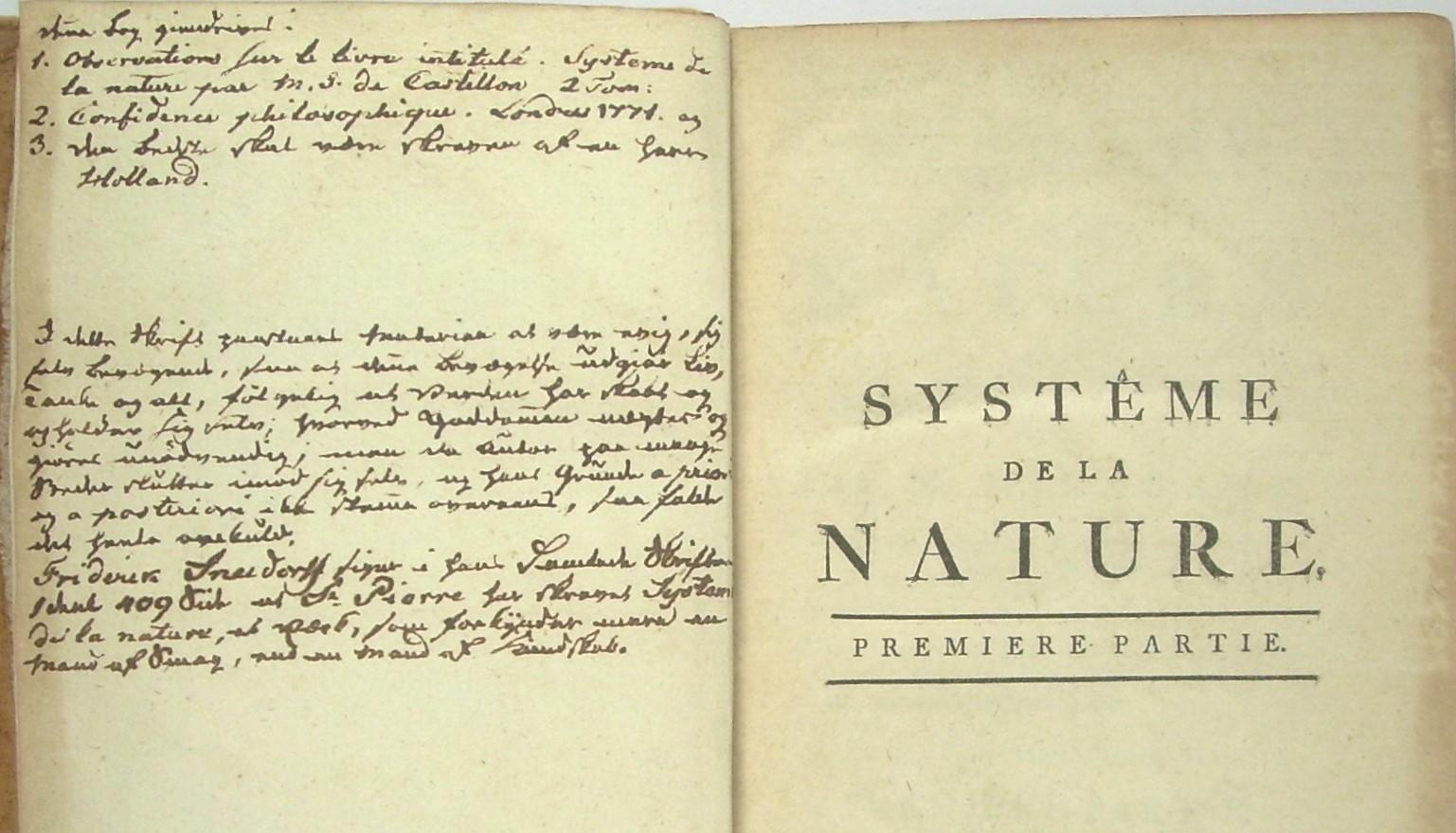 Le Systeme de la nature