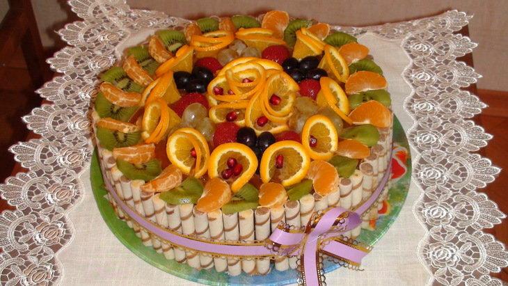 Торт с апельсинами своими руками