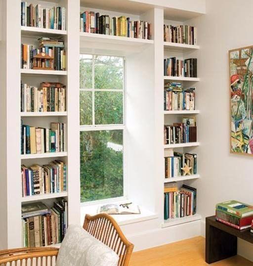 Встроенный книжный стеллаж своими руками