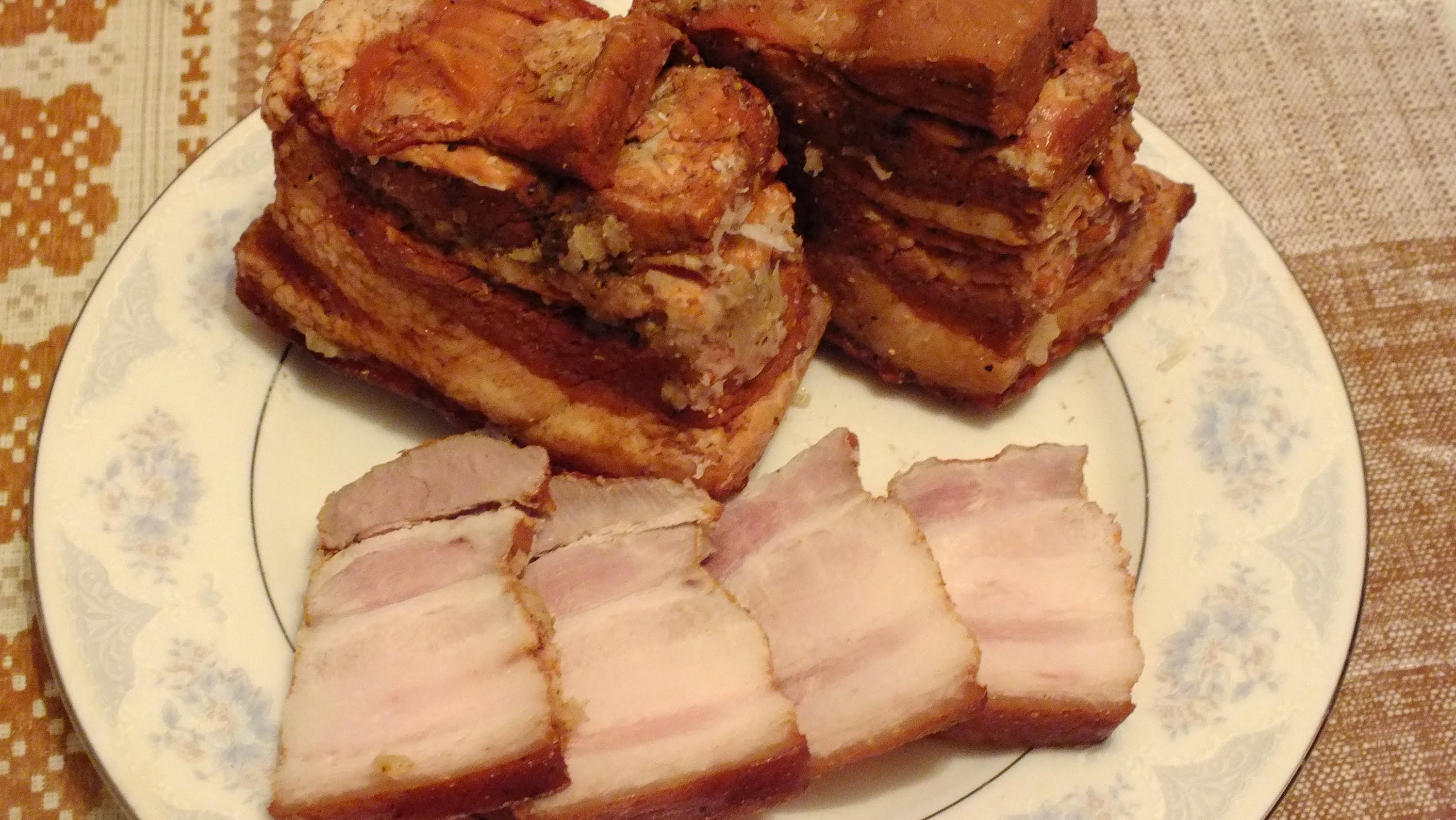 boiled bacon in the husk