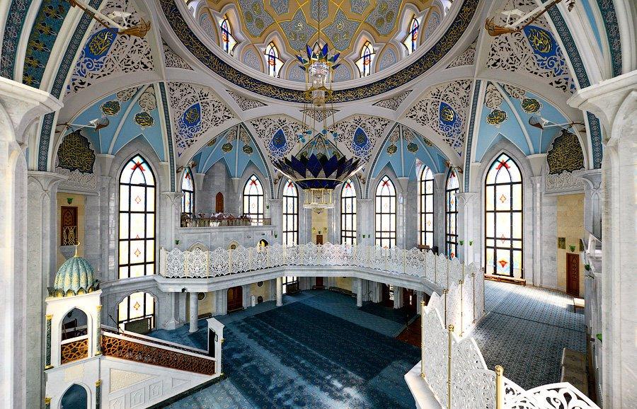 Внутреннее убранство мечети Кул-Шариф