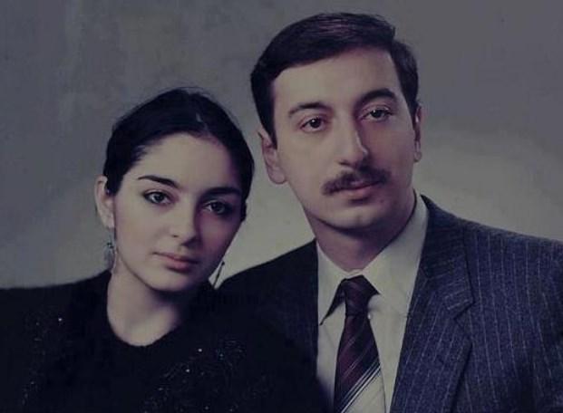 Ильхам Алиев с женой в молодости
