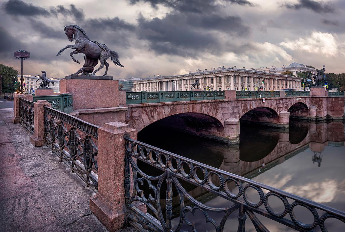 аничков мост ход строительства фото капитан разлив поделиться вами рецептом