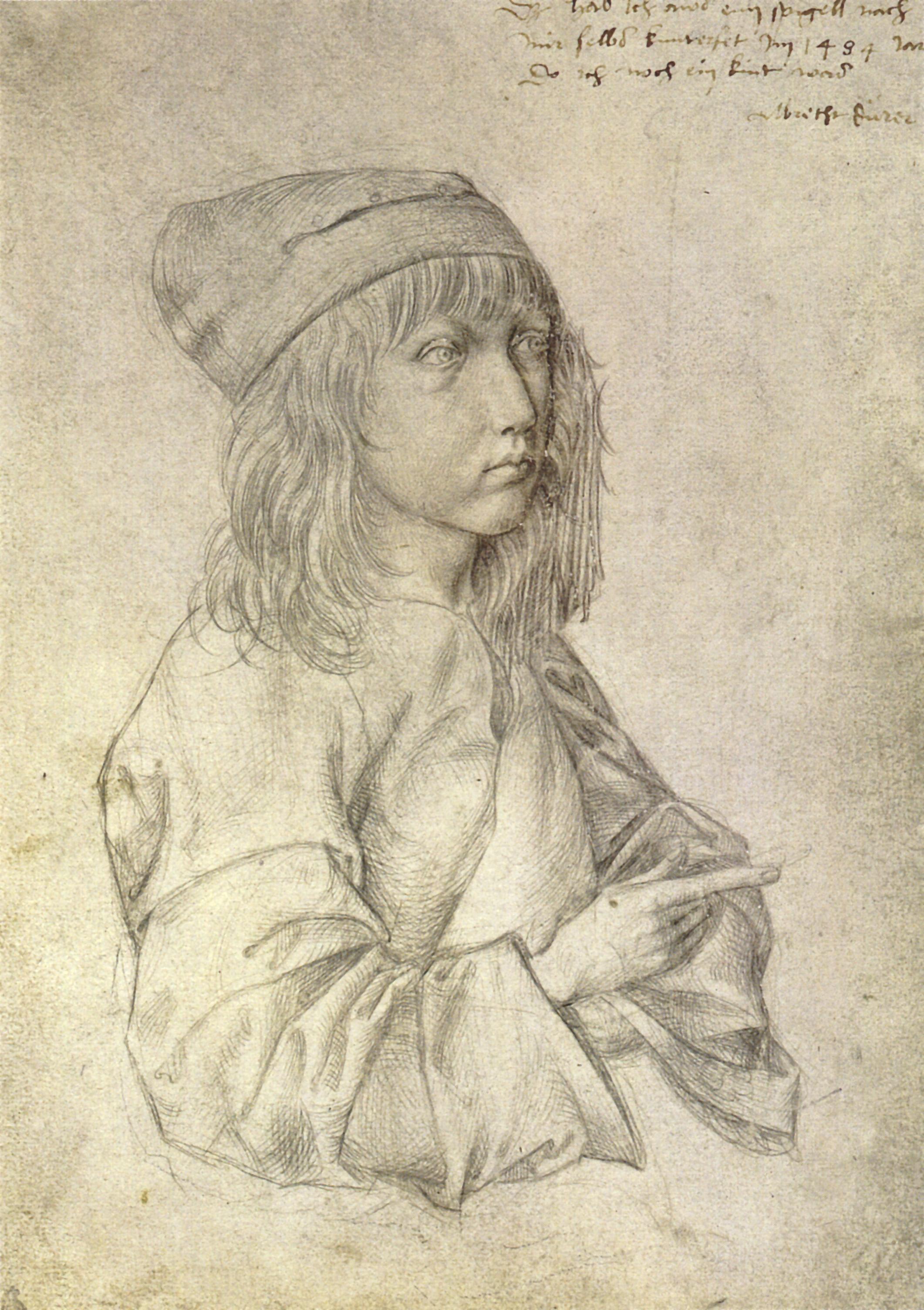 Автопортрет, 1484 г.