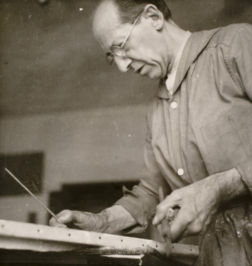 Пит Мондриан в мастерской