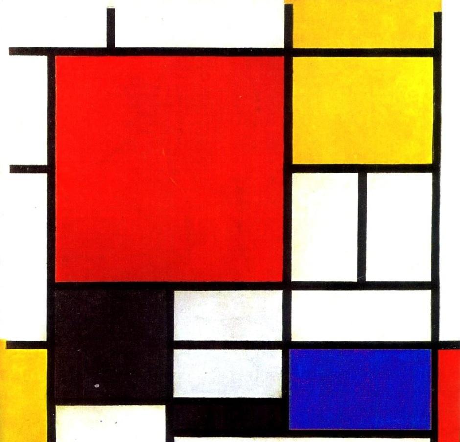 Красный, желтый, синий и черный