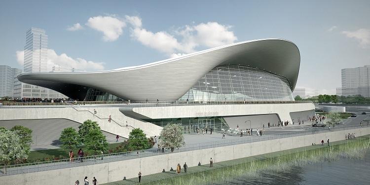 Заха Хадид. Центр водных видов спорта в Лондоне. Олимпиада-2012