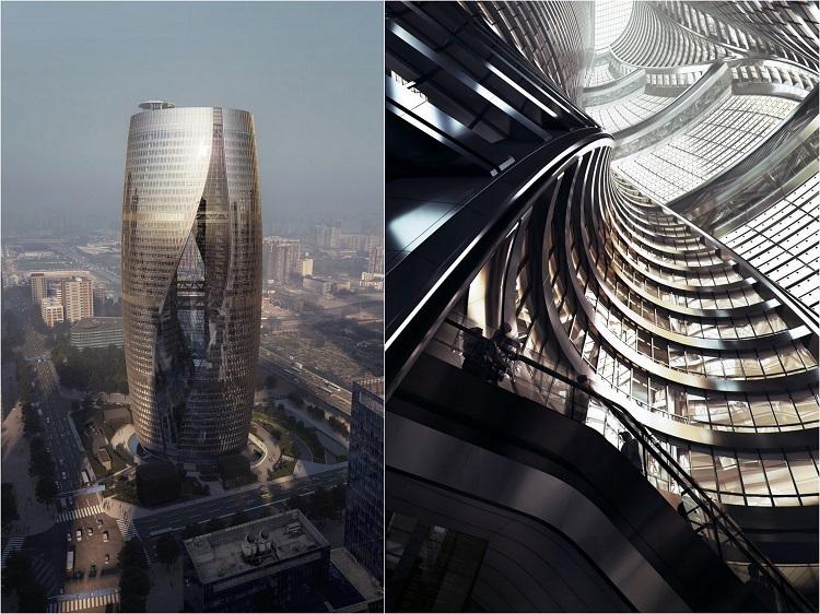 Заха Хадид. Проект Leeza SOHO. Пекин. Китай.