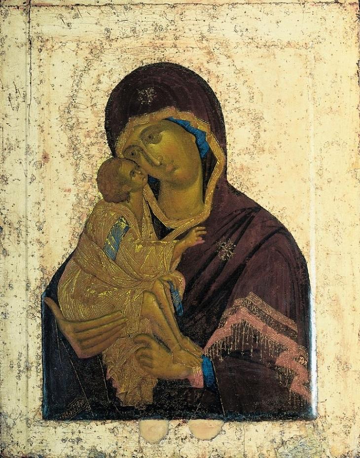 Икона Донской Божией Матери. Приписывается Феофану Греку.