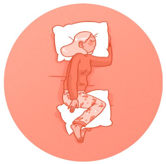 Сон на боку при болях в спине