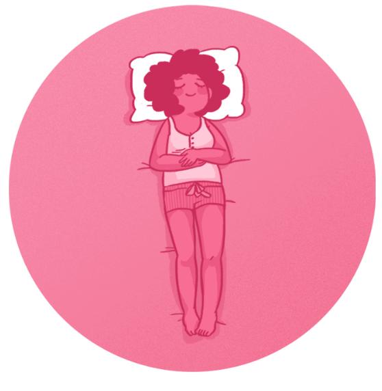Как правильно спать на спине