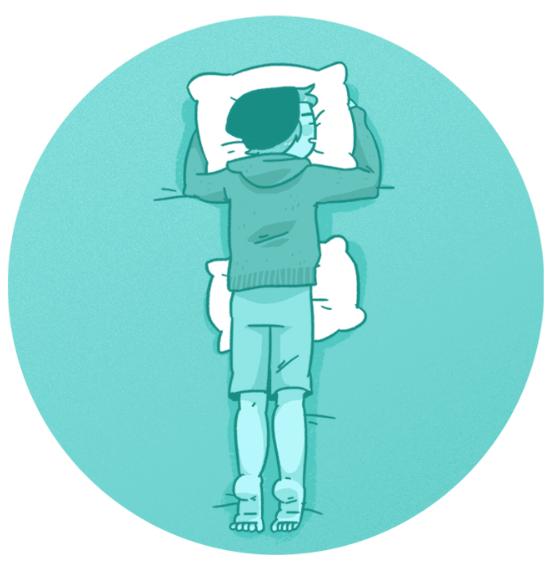 Сон на животе неблагоприятен для спины