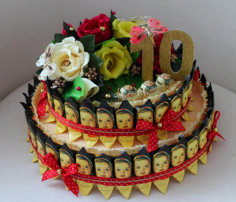 торт из конфет своими руками пошаговые фото всегда