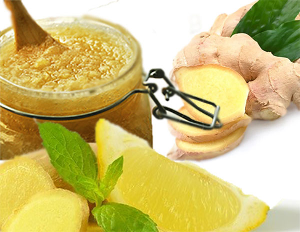 ginger with honey and lemon