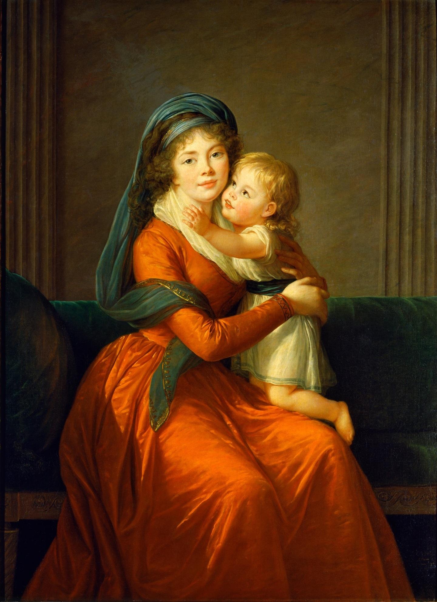 Александра Голицына с сыном Петром. Художник Элизабет Виже-Лебрен