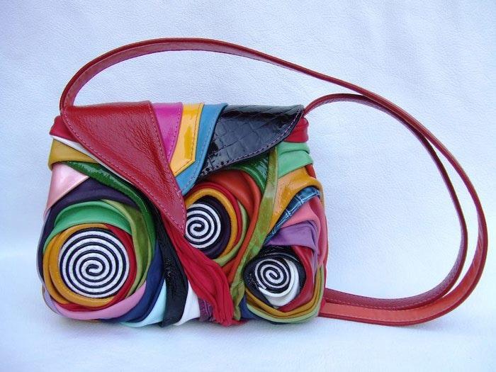 сумка из разных материалов