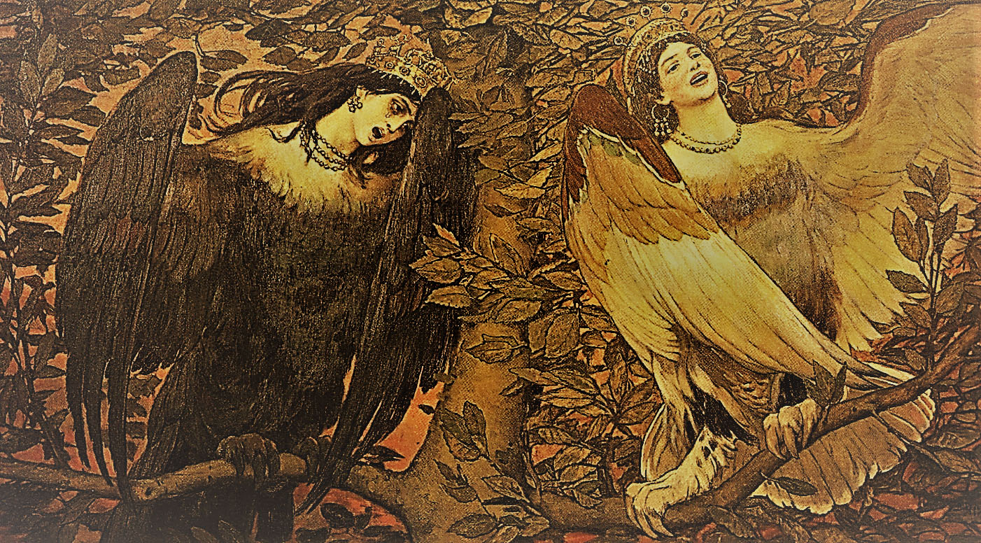 Мифические птицы Сирин и Алконост
