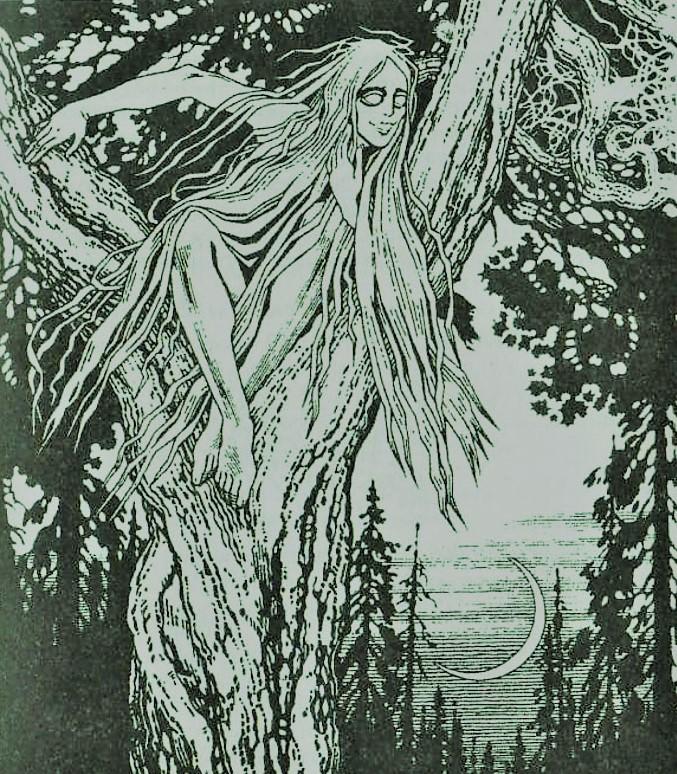 Русалка на дереве