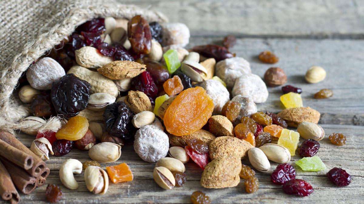 Фото с орехами и сухофруктами