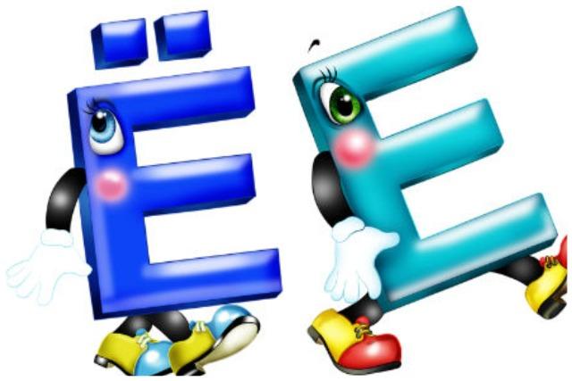 Буквы Ё и Е