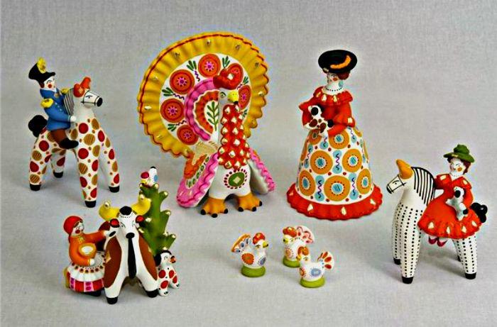 Визитная карточка России - дымковская игрушка
