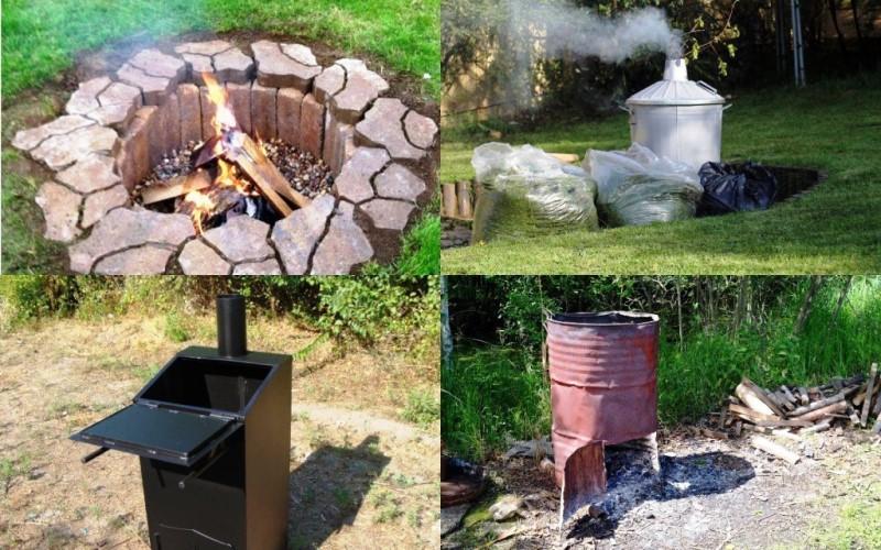 Сжигание мусора на участке