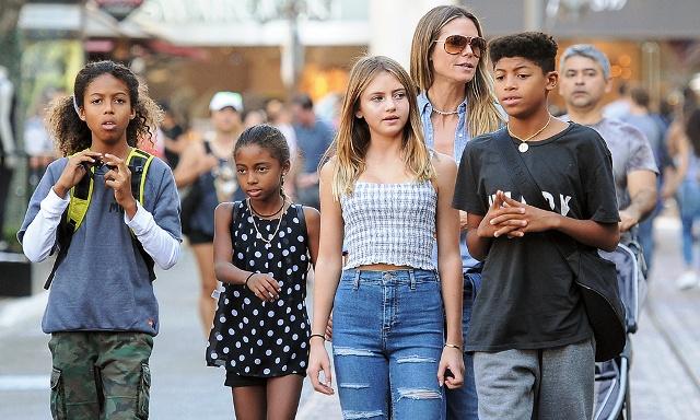 Хейди Клум и её четверо детей