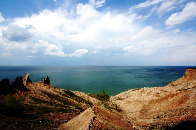 Озеро Эри, на берегу которого жил писатель Янг