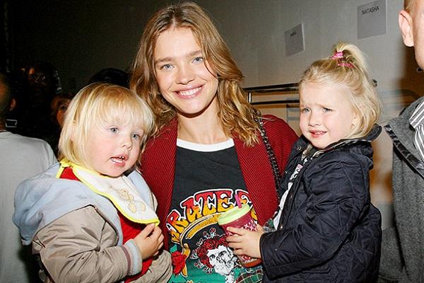 Модель Наталья Водянова и ее дети