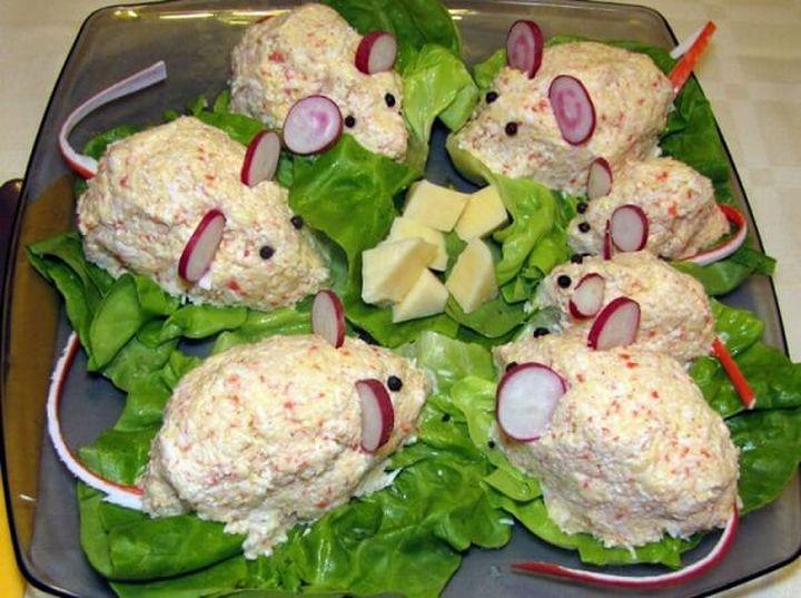 салат Мышки