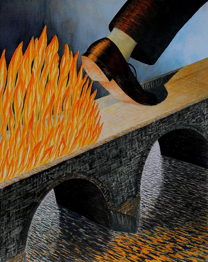 Горящие мосты (2015). Художник Адриан Джонс