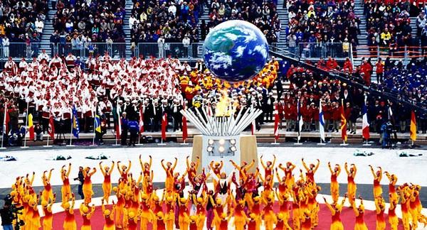 Церемония открытия Олимпийских игр в Нагано в 1998 г.