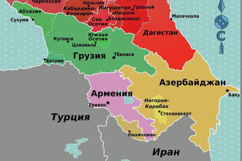 Карта закавказья картинки