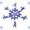 Снежинка из стекляруса и бусин своими руками