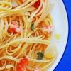 Паста с креветками и сыром