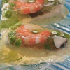 Рыбное заливное в креманках