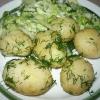 Молодой картофель со сметаной и укропом