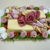 Как вырезать розу из колбасы