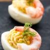 Как приготовить фаршированные яйца с креветками