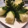 Карвинг из овощей. Роза из пекинской капусты
