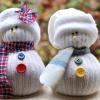 Новогодний декор своими руками: снеговик из носков
