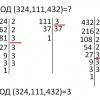Как найти наибольший общий делитель чисел