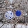 Валяный шарик на елку: мастер-класс